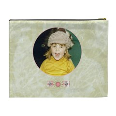 Gentle Times Xl Cosmetic Case By Joan T   Cosmetic Bag (xl)   8u81646q2ps1   Www Artscow Com Back