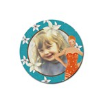 Beach Coaster - Rubber Round Coaster (4 pack)