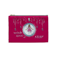 Wish Upon A Star Princess Cosmetic Case By Catvinnat   Cosmetic Bag (medium)   52fexbviihfc   Www Artscow Com Front