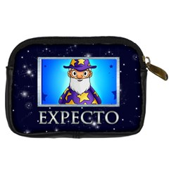 Expelliarmus Wizard Words Camera Case By Catvinnat   Digital Camera Leather Case   5rfspycy9jd7   Www Artscow Com Back