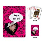 Bad girl  - PLAYING CARDS - Playing Cards Single Design