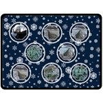 Midnight Snowstorm Extra Large Fleece - Fleece Blanket (Large)