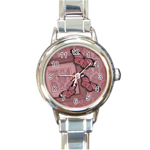 Love Watch 02 By Carol   Round Italian Charm Watch   Ey3b92nhvh2a   Www Artscow Com Front