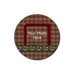 My Christmas Pony Coaster - Rubber Round Coaster (4 pack)
