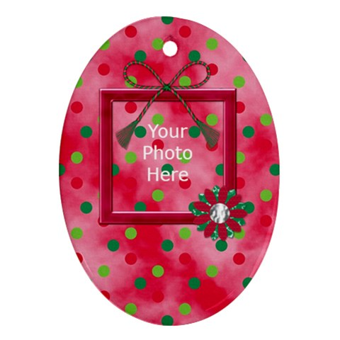 Merry And Bright Ornament Oval 101 By Lisa Minor   Ornament (oval)   Ay4ktgdja9ay   Www Artscow Com Front