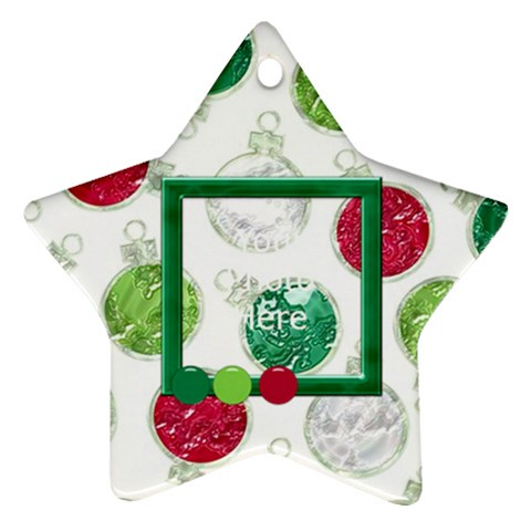 Merry And Bright Star Ornament By Lisa Minor   Ornament (star)   Mz8wtamoyvqs   Www Artscow Com Front