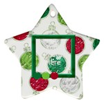 Merry and Bright Star Ornament - Ornament (Star)