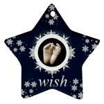wISH SNOWFLAKE STAR ORNAMENT - Ornament (Star)