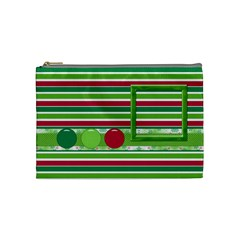 Merry And Bright Medium Cosmetic Bag By Lisa Minor   Cosmetic Bag (medium)   Ctrqiujo1emu   Www Artscow Com Front
