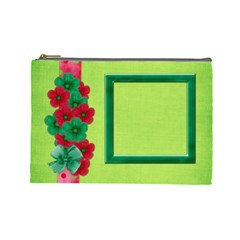 Merry And Bright Large Cosmetic Bag By Lisa Minor   Cosmetic Bag (large)   H80gdv4yg15v   Www Artscow Com Front