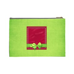 Merry And Bright Large Cosmetic Bag By Lisa Minor   Cosmetic Bag (large)   H80gdv4yg15v   Www Artscow Com Back