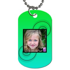 Swirl Tag By Amanda Bunn   Dog Tag (two Sides)   7tjhtq94lct1   Www Artscow Com Front