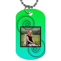 Swirl Tag By Amanda Bunn   Dog Tag (two Sides)   7tjhtq94lct1   Www Artscow Com Back