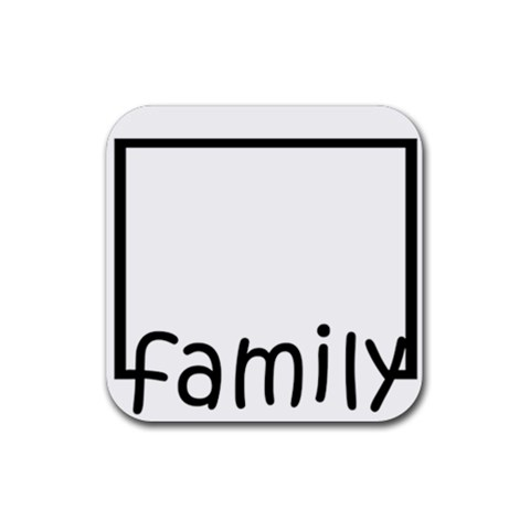 Family Framed Coasters By Amanda Bunn   Rubber Square Coaster (4 Pack)   8k65n4k6kbrx   Www Artscow Com Front