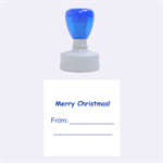 Merry Christmas Medium Round Stamp - Rubber Stamp Round (Medium)