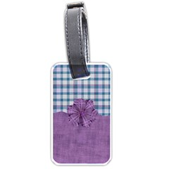Lavender Rain Luggage Tag 101 By Lisa Minor   Luggage Tag (two Sides)   8bwvikob04r5   Www Artscow Com Back
