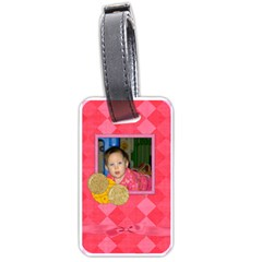 Foodie Girl Luggage Tag By Lisa Minor   Luggage Tag (two Sides)   B4xjdae1u6m2   Www Artscow Com Front