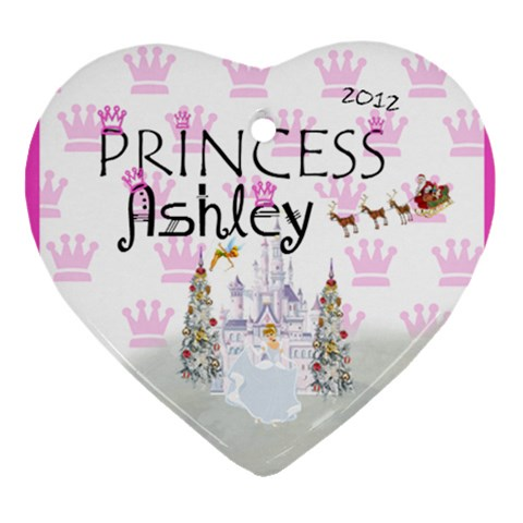 Hailee s By Anna Marie   Ornament (heart)   Nfoh11xdc01w   Www Artscow Com Front