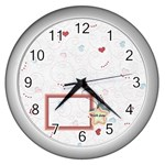 With love - Wall Clock (Silver)