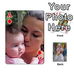 Ace Gabi Karti Za Igra By Kalina   Playing Cards 54 Designs   Kl05pjmrrrw8   Www Artscow Com Front - DiamondA