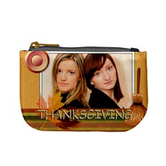Thanksgiving By Joely   Mini Coin Purse   Bzp6xvkwxidf   Www Artscow Com Front