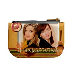 Thanksgiving By Joely   Mini Coin Purse   Bzp6xvkwxidf   Www Artscow Com Back