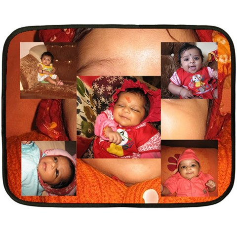 Bitiya Blanket By Umesh Sharma   Fleece Blanket (mini)   A2z7iluv4aqi   Www Artscow Com 35 x27 Blanket