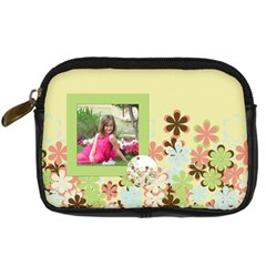 Spring Blossom Camera Case By Lisa Minor   Digital Camera Leather Case   3jkhmbw4u4mu   Www Artscow Com Front