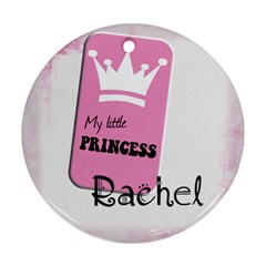 My Little Princesse   Ornament By Carmensita   Round Ornament (two Sides)   81nywn0ycrco   Www Artscow Com Back