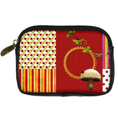 Miss Ladybugs Garden Camera Case 1 By Lisa Minor   Digital Camera Leather Case   Xdhhh1g2ijt0   Www Artscow Com Front