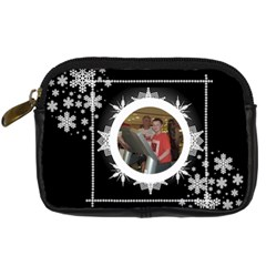 Midnight Snowstorm Camera Case 2 By Catvinnat   Digital Camera Leather Case   339e111uwibk   Www Artscow Com Front