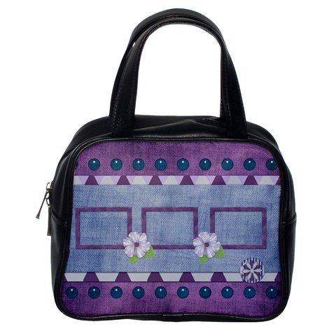 Lavender Rain Classic 1 Side Handbag 1 By Lisa Minor   Classic Handbag (one Side)   C43478e27lwp   Www Artscow Com Front