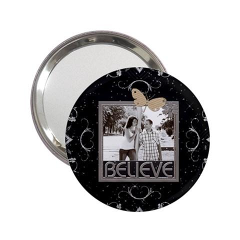 Believe Handbag Mirror By Lil    2 25  Handbag Mirror   Z05u3395lwk1   Www Artscow Com Front