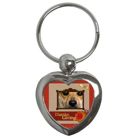 Thanksgiving By Joely   Key Chain (heart)   C5myqtxl9umb   Www Artscow Com Front