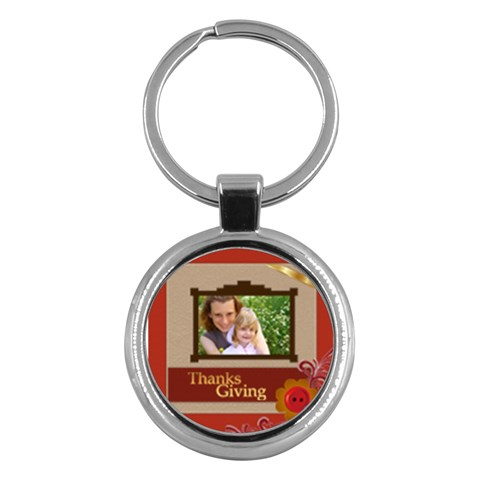Thanksgiving By Joely   Key Chain (round)   Iq16s4q9vhsk   Www Artscow Com Front