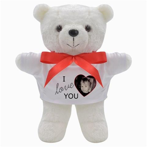 I Love You Valentine Bear By Sheena   Teddy Bear   Ygxykasxh3jj   Www Artscow Com Front