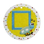 Silly Summer Fun 1 side ornament 1 - Ornament (Round)