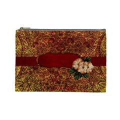 Arabian Spice Large Cosmetic Bag 1 By Lisa Minor   Cosmetic Bag (large)   Vbx870dqx085   Www Artscow Com Front