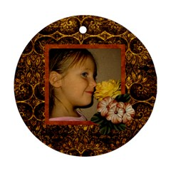 Arabian Spice 2 Sided Ornament 1 By Lisa Minor   Round Ornament (two Sides)   Gabxco12b6lt   Www Artscow Com Front
