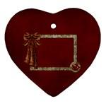 Arabian Spice heart ornament 1 side 1 - Ornament (Heart)