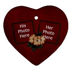 Arabian Spice Heart Ornamet 2 Sides 1 By Lisa Minor   Heart Ornament (two Sides)   E9vn3dy74u2a   Www Artscow Com Front