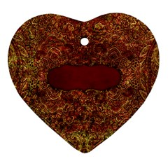 Arabian Spice Heart Ornamet 2 Sides 1 By Lisa Minor   Heart Ornament (two Sides)   E9vn3dy74u2a   Www Artscow Com Back