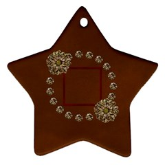Arabian Spice Star 2 Sided Ornament 1 By Lisa Minor   Star Ornament (two Sides)   Eer5ustgnxv9   Www Artscow Com Front