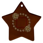 Arabian Spice Star 2 sided ornament 1 - Star Ornament (Two Sides)