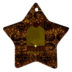 Arabian Spice Star 2 Sided Ornament 1 By Lisa Minor   Star Ornament (two Sides)   Eer5ustgnxv9   Www Artscow Com Back