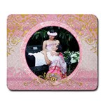 pink wedding mouse pad - Large Mousepad