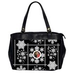 Midnight snowstorm winter oversized office bag - Oversize Office Handbag (2 Sides)