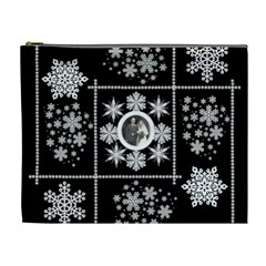Winter Wedding Snowflake Cosmetic Bag Extra Large By Catvinnat   Cosmetic Bag (xl)   5f0chrzg5ehj   Www Artscow Com Front