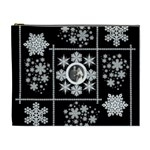 Winter wedding snowflake cosmetic bag extra large - Cosmetic Bag (XL)