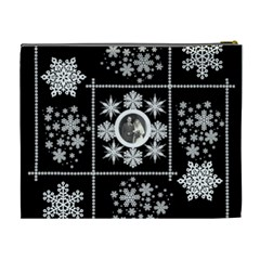 Winter Wedding Snowflake Cosmetic Bag Extra Large By Catvinnat   Cosmetic Bag (xl)   5f0chrzg5ehj   Www Artscow Com Back